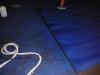 Blauer Teppichboden